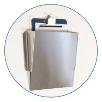 Stainless Steel Wall Mountable File Pocket