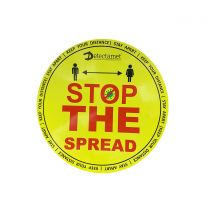 Metal Detectable Health & Safety Floor Stickers: Stop The Spread