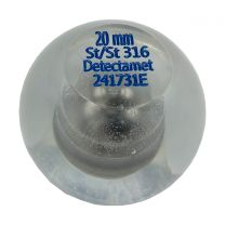 Metal detector Test Ball Manufactured from clear Acrylic