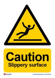 'Caution Slippery Surface' Sign